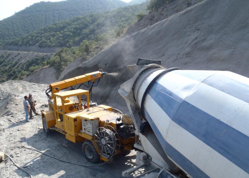터널 라이닝 숏크리트 장비 SPM4210