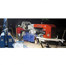 Thom-Katt TK 15HP Trailer-Mounted Concrete/Shotcrete Pump